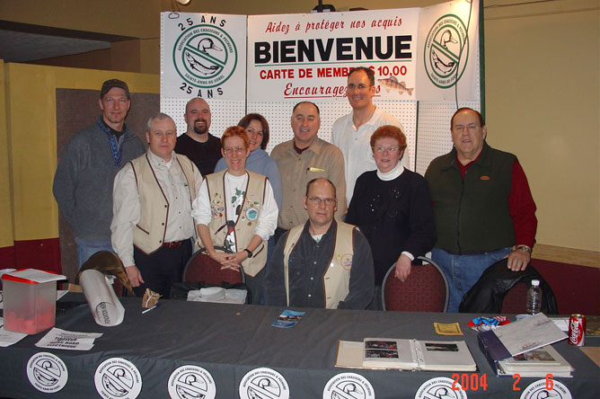 Photograph showing the members of the board of directors of the Association des chasseurs et pêcheurs de Sainte-Anne-de-Sorel